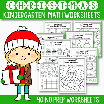 Christmas Activities Kindergarten Christmas Math Worksheets Tpt