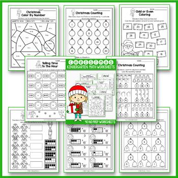 Christmas Activities Kindergarten - Christmas Math Worksheets