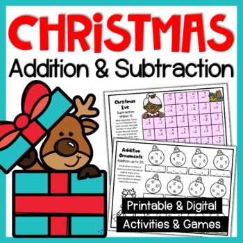 Christmas Addition Worksheets, Activities and Games