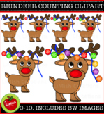 Christmas Reindeer Counting Clip Art Set. (commercial or personal use)