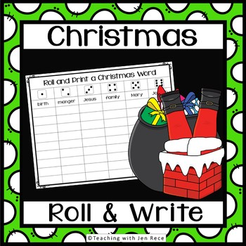 Christmas Roll It And Write It Activity