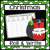 Christmas Literacy Center - Roll it and Write it