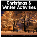 Christmas and Winter Math Activities Bundle 4th-8th Distan