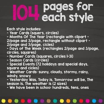 Classroom Calendar Set - Calendar Kit
