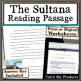 Mississippi River History Close Read of the Sultana Disaster