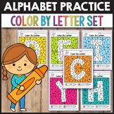 Color By Letter A-Z - Letter Recognition Worksheets Kindergarten