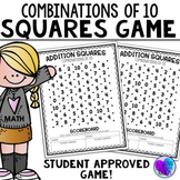 Combination of 10 - Addition Squares Math Game
