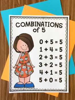 Combination of 5 - Addition Squares Math Game