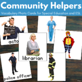 Community Helpers Vocabulary Cards for Autism and ESL