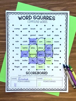 Compound Words - Word Squares Game