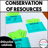 Conservation of natural resources Interactive Notebook SOL 3.8