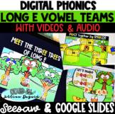 DIGITAL Long e Vowel Teams - ee, ea, ie - Google Slides & Seesaw