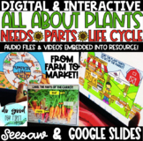 DIGITAL PLANTS - Needs, Parts, Life Cycle - Google Slides & Seesaw