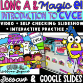 DIGITAL Phonics - CVCe - Long a with Magic E - Google Slides & Seesaw
