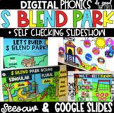 DIGITAL Phonics: S BLENDS - Google Slides - Seesaw - Self-Checking