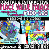 DIGITAL Place Value Palace - Numbers 100-120 - Google Slides & Seesaw