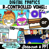 DIGITAL R-Controlled Vowel OR - Seesaw & PPT ONLY!
