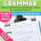 3rd Grade Daily Oral Language Sentences | Morning Work | D