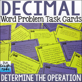 Decimal Operations Word Problem Task Cards: Determine the