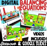 Digital Balancing Equations - Google Slides & Seesaw