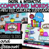 Digital Compound Words - Seesaw - Google Slides - Distance