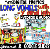 Digital Long Vowels Spelled with -y and igh - Google Slide