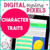 Character Traits READING COMPREHENSION Digital Mystery Picture Pixel