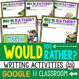 Digital Would You Rather Questions for MARCH Google Classroom Activities