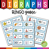 Digraphs DOMINO Puzzle Game  (th, sh, ch, wh, ph, qu, tch, ng, ck)