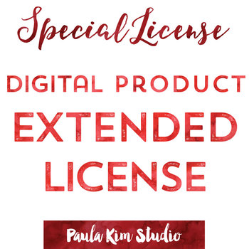 Extended License for Digital Products