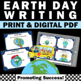 Earth Day Activities and Games with Writing Prompt Task Cards