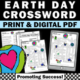 Earth Day Crossword Puzzle, Environmental Science, Earth Day Activities
