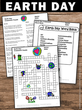 graphic relating to Earth Day Crossword Puzzle Printable titled Globe Working day Routines Dietary supplement, Science Crossword Puzzle Worksheet