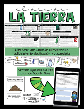 Earth Day / Recycling Unit in Spanish - Día de la Tierra / reciclaje