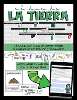 Earth Day / Recycling Unit in Spanish - Día de la Tierra / reciclaje