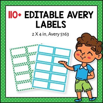 Editable Avery Labels 5163