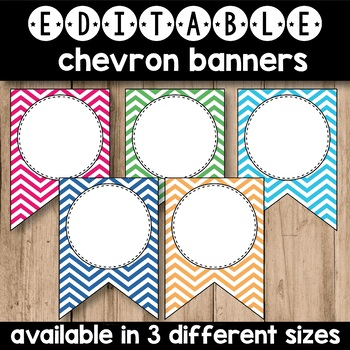 50% OFF Editable Banners Letters Chevron(Editable Subject Banners)