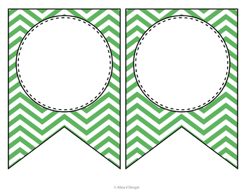 Editable Banners Letters Chevron (Editable Subject Banners)