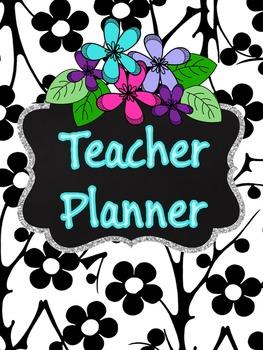 Editable Teacher Binder {Flower}