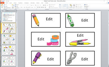 #twosunnydeals #hellosummer Teacher Toolbox Labels Editable 22,