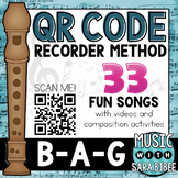Elementary Recorder Method with QR Codes- Book 1