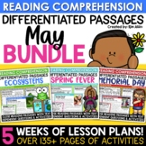 End of Year Activities Close Reading Comprehension Passages May Bundle