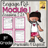 Engage NY Grade 1 Module 1 Lessons 1-24 Printable and Digital