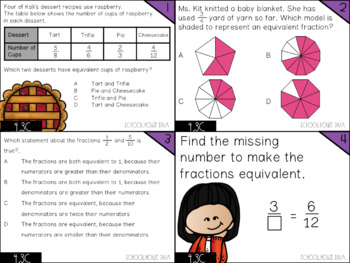Equivalent Fractions - 4.3C Math TEKS Resource Bundle