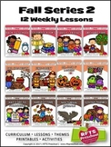 FALL PRESCHOOL PRE-K KINDERGARTEN LESSONS CURRICULUM BUNDLE S2