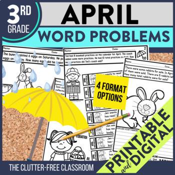 3rd GRADE APRIL WORD PROBLEMS