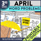3rd Grade April Word Problems printable and digital math a