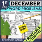 DECEMBER WORD PROBLEMS 1st Grade