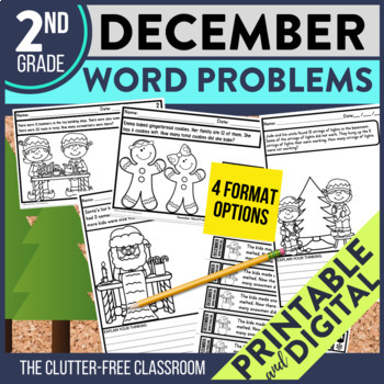 50% OFF FIRST 24 HOURS ---> DECEMBER WORD PROBLEMS 2nd Grade