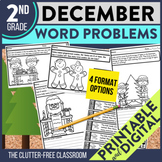 DECEMBER WORD PROBLEMS 2nd Grade